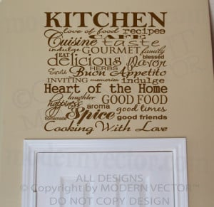 Kitchen Quotes Wall Lettering Vinyl