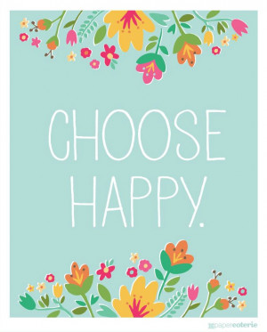 Daily Words: Choose Happy