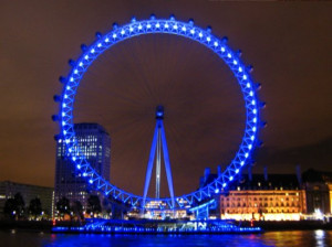 LONDON EYE AT NIGHT OR DAY