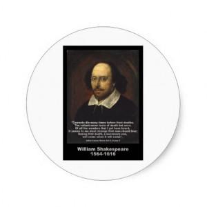 William Shakespeare Quote: Julius Caesar Classic Round Sticker