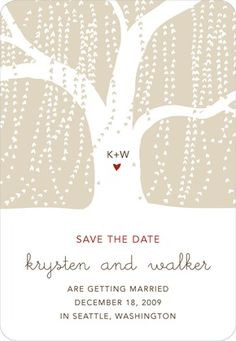 Save the Date Magnets - Weeping Willow by Wedding Paper Divas
