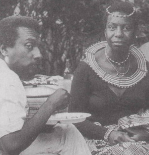 Nina Simone, sitting with Kwame Ture (also known as Stokely ...