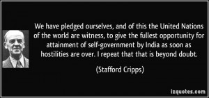 More Stafford Cripps Quotes