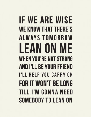 Lean+on+Me+//Inspirational+Quote+//+Art+Print+//+by+LADYBIRDINK,+$19 ...