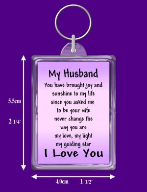Details about HUSBAND VERSE KEYRING, I LOVE YOU KEEPSAKE GIFT