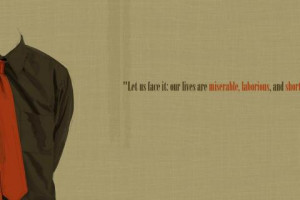 Quotes our lives are miserable laborious and shor 1920x1080