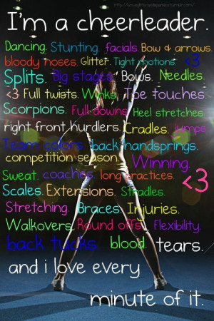 Don't say cheer-leading isn't a sport until you have been one. And ...