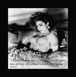 Material Girl Madonna with Quote on Canvas 30x40