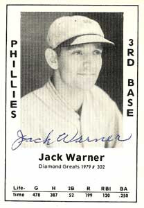 Jack Warner Baseball