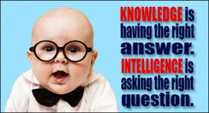 Knowledge And Intelligence Intelligence Quotes