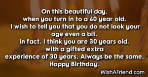 60th Birthday Gag Gift Caution Sign