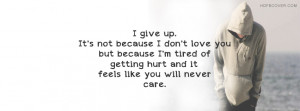 quotes about giving up on someone who doesnt care