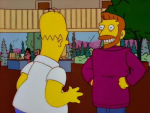 Hank Scorpio and Homer