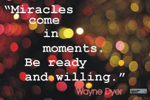 miracles Inspirational quotes & words of wisdom