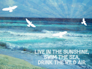 Words To Live By The Sea Mixed Media