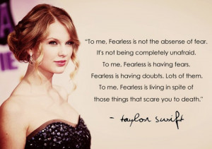 Taylor swift Inspirational quote