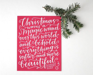 Holiday Print // Hand Lettered Christmas Quote by EmDashPaperCo