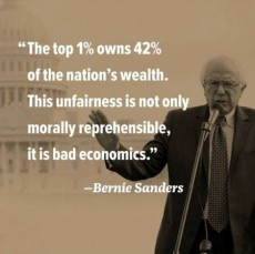 The top 1% owns 42% of the nation's wealth. This unfairness is not ...