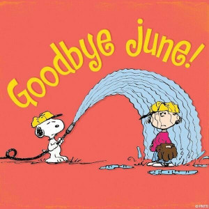 Goodbye June quotes quote snoopy july hello july peanuts gang goodbye ...