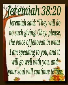 jeremiah 38 20 more prophet book 01 jeremiah bible quotes jesus christ ...