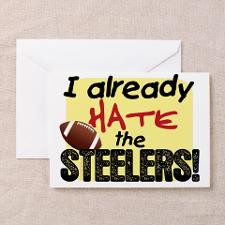 steelers hate.gif Greeting Card for