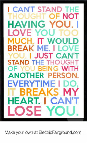 Stand By Me Love Quotes I can't stand