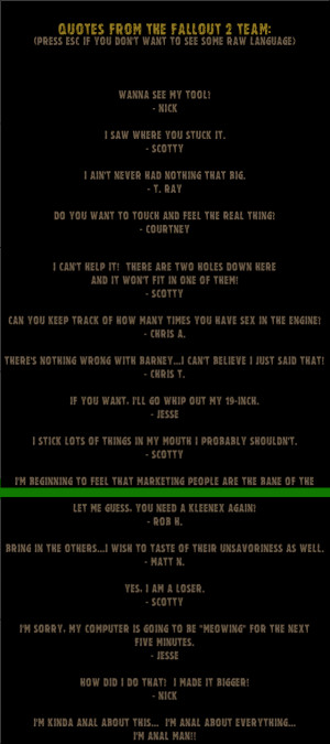 Best Fallout Quotes
