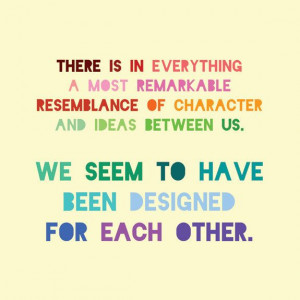 Pride and Prejudice 5x5 Print - Jane Austen Quote