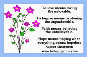 inspirational quote for hope and love