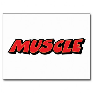 Muscle ~ Car Fitness Trainer Weight Lifter Postcard