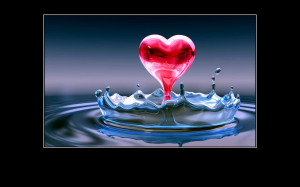 love quotes Water Heart
