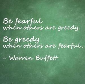 Warren Buffett on fear and greed