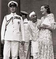 COSY THREESOME: Lord Mountbatten, Pandit Nehru and Edwina