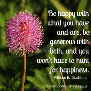 Be happy with what you have and are…