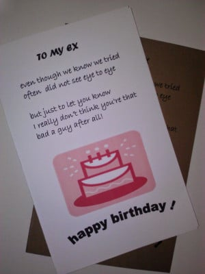 Happy Birthday Quotes for Ex Husband
