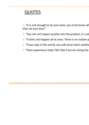 Quality Improvement Quotes Deming ~ W. Edwards Deming Process ...