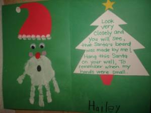 Handprint Santa w/ Poem