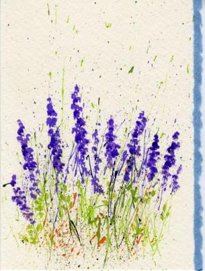 Tips for Splattered Paint Lavender Flowers Card-myflowerjournal.om