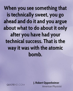 Oppenheimer Quote Atomic Bomb