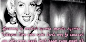 Marilyn Monroe Quotes Tattoos