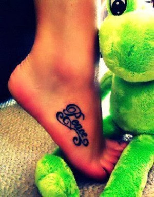 Lovely Foot Quote Tattoos for Girls - Best Foot Quote Tattoos