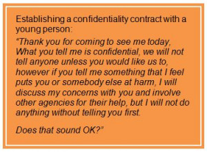 Confidentiality, information sharing and child protection