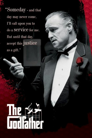 Godfather - The Don Vito Corleone Service Movie Poster