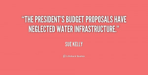 ... president's budget proposals have neglected water infrastructure