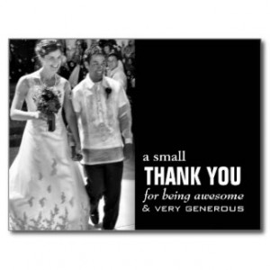 Thank You Cards Wedding Les