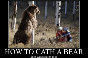 ... to catch the bear do not miss out the spelling mistake in the quote