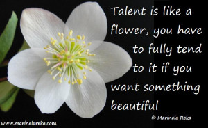 Marinela reka quotes quote about talent quote about talent and hard ...