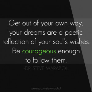 Get Out Of Your Own Way, Your Dreams Are A Poetic Reflection Of Your ...