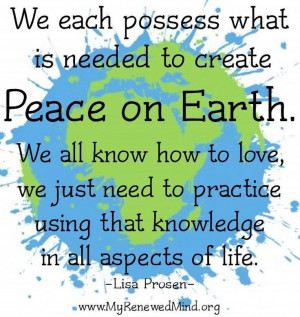 peace on earth quotes | Peace on earth quote via www.MyRenewedMind.org ...