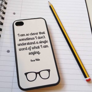 Iphone 4s Cases Quotes Oscar wilde quote case for